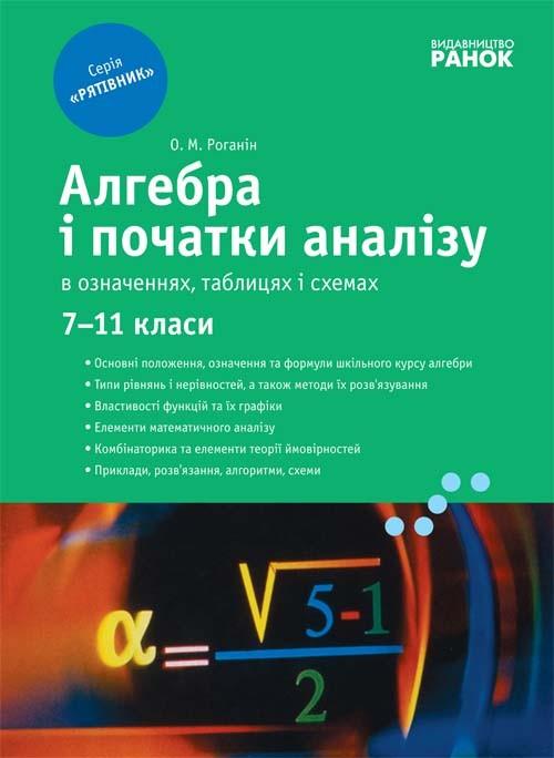 Алгебра в определениях формулах и таблицах 7-11 классы