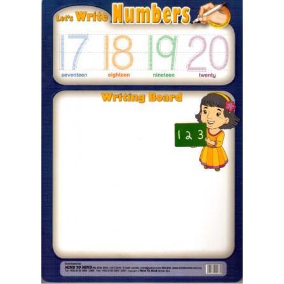 Дошка Let's write Numbers + маркер
