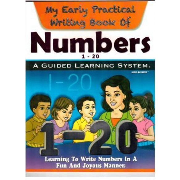 Writing book Числа 1-20