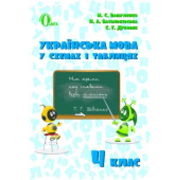 Українська мова у схемах і таблицях 4 клас