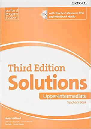 Solutions Upper-Intermediate Teacher's Book and CD-ROM Pack 3 ed