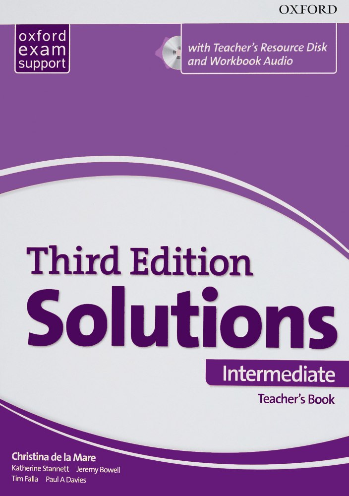 Solutions Intermediate Teacher's Book and CD-ROM Pack 3 ed