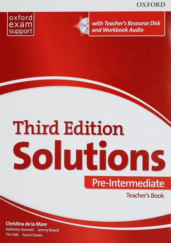 Solutions Pre-Intermediate Teacher's Book and CD-ROM Pack 3 ed