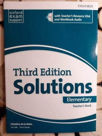 Solutions Elementary Teacher's Book and CD-ROM 3rd edition