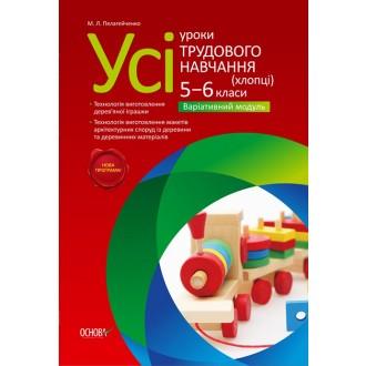 Все уроки трудового обучения Юноши 5-6 класс Вариативный модуль