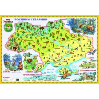 Карта Рослини і тварини Моя Україна на планках