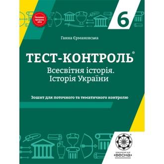 Тест-контроль Історія України + Всесвітня історія 6 клас Інтегрований курс