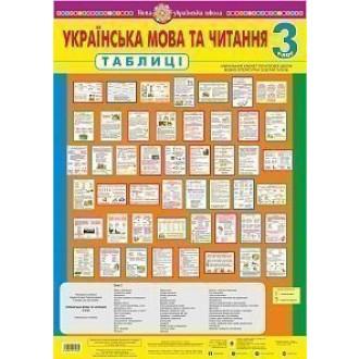 Українська мова та читання Таблиці 3 клас НУШ