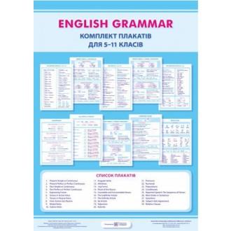 Английская грамматика Комплект плакатов для 5-11 классов