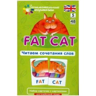 Английский язык Толстый кот  Fat Cat  Уровень 5 Набор карточек с картинками