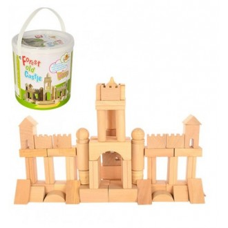 Деревянный конструктор Построй свой замок