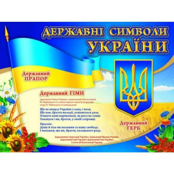Плакат Государственные символы Украины