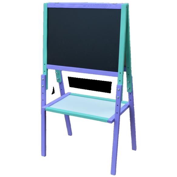 Мольберт Растишка (Регулируемая высота) фиолетово-голубой