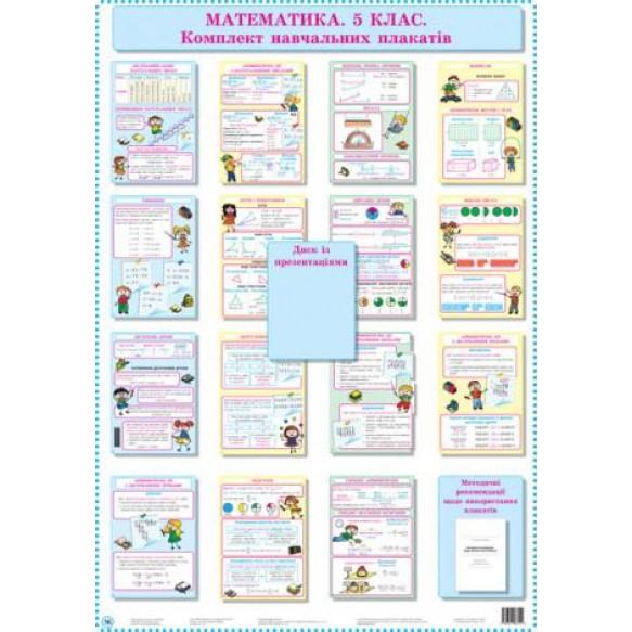 Математика 5 класс Комплект учебных плакатов