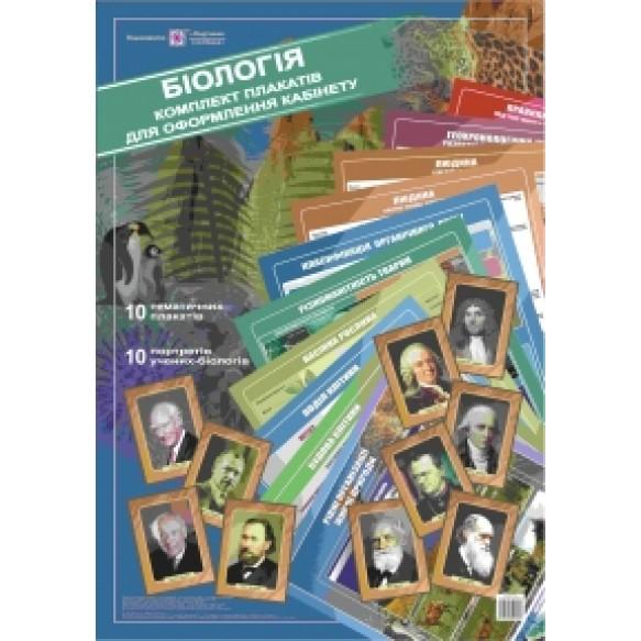 Набор плакатов для оформления кабинета биологии
