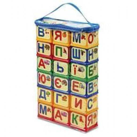 Азбука Кубики с элементами крепления