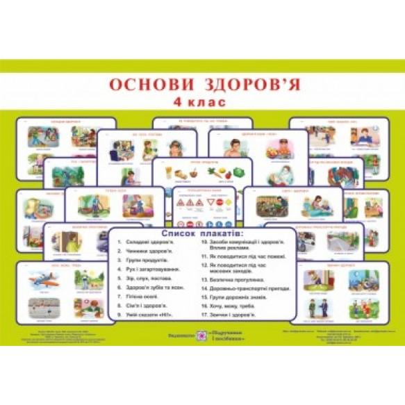 Комплект плакатов по основам здоровья 4 класс Методические рекомендации