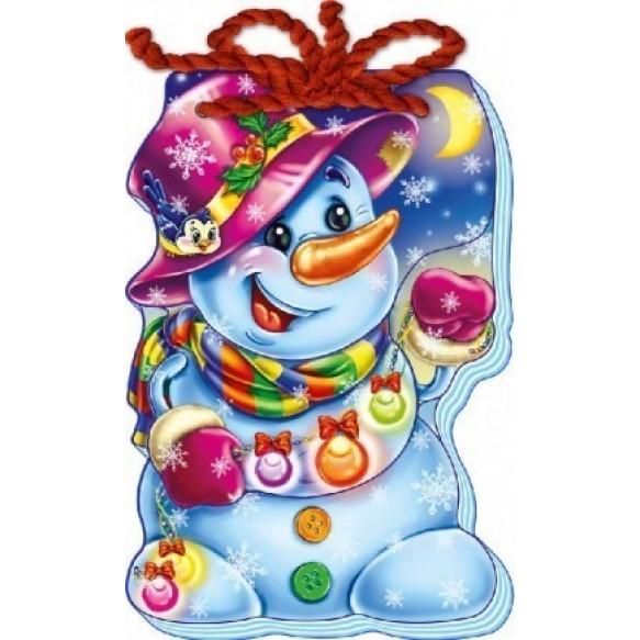 Мягкий новый год Снеговик