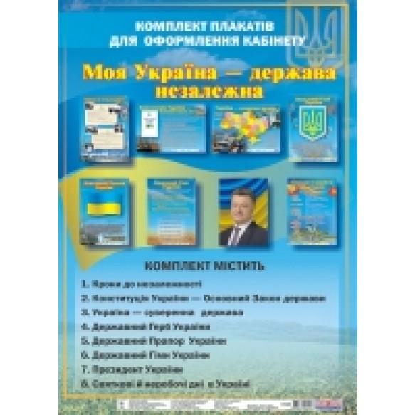 Комплект плакатов Моя Украина – государство независимое