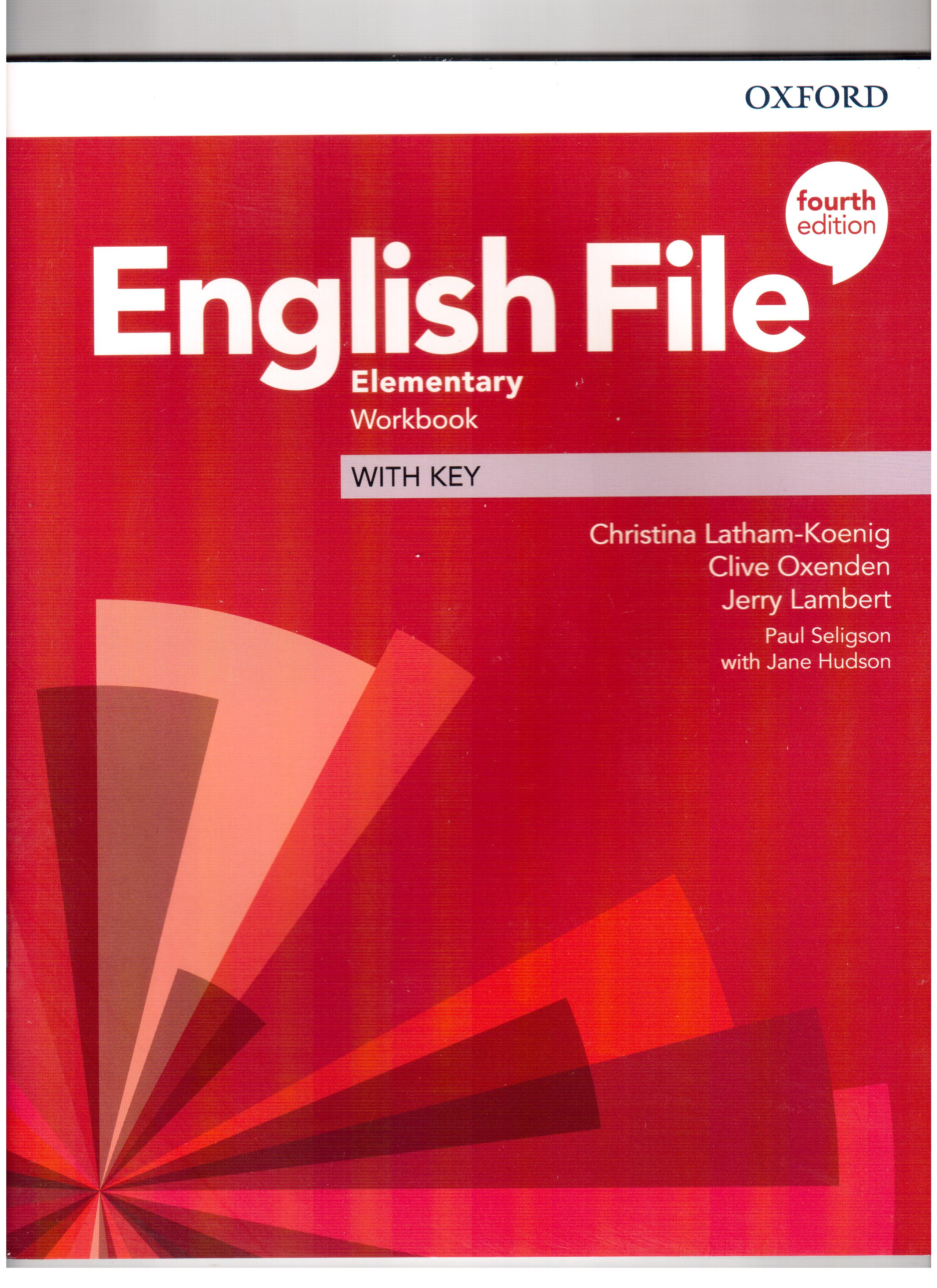 English File 4th Edition Elementary Workbook with key