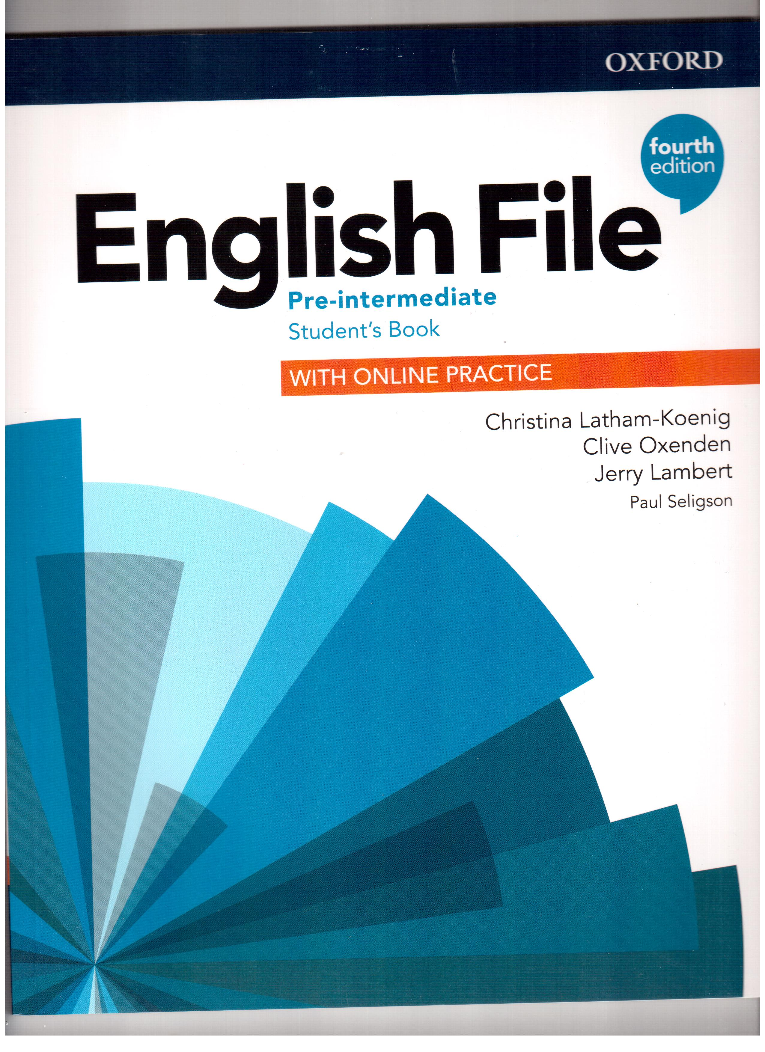 English File 4th Edition Pre-intermediate Student's Book with Online Practice