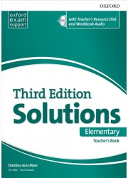 Solutions Elementary Teacher's Book and CD-ROM Pack 3 ed
